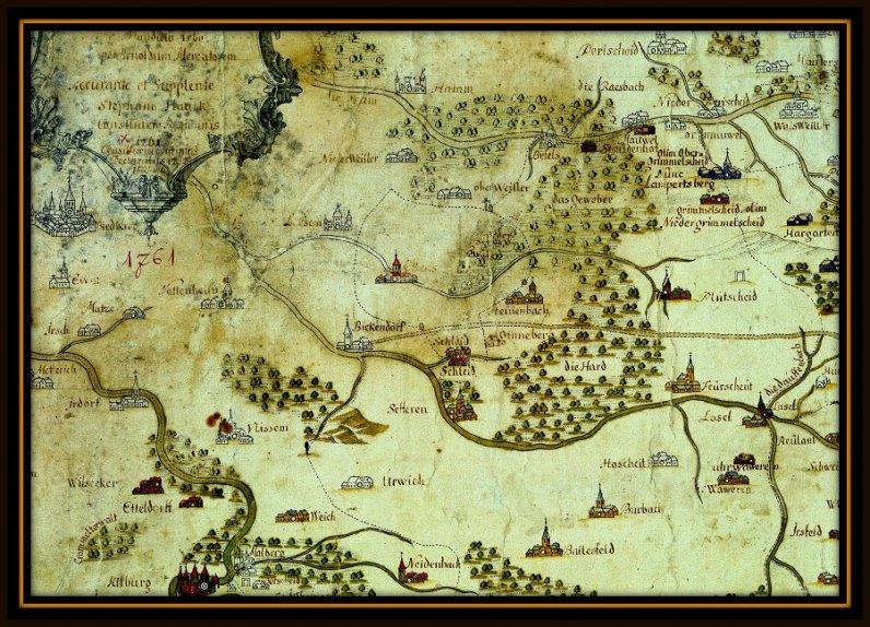 Mittelalterliche Landkarte
